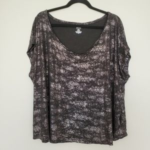 Jennifer Lopez black and silver tshirt 3X